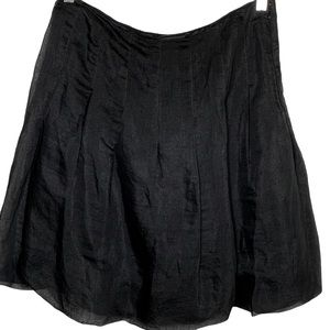 WHBM Black Pleated Lined Pleated Comfy Skirt 8